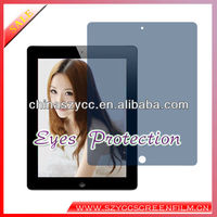 Hot Selling blue light cut screen protector film Moist Eyes Screen Film For IPAD2/3/4