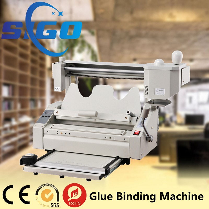 TB04 industrial perfect glue book binding machine+creaser