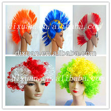 Cheap Synthetic Springy Word Cup Fans Hair Wigs