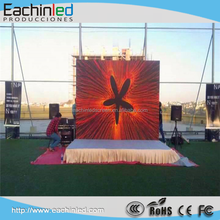 Wireless Double Sided front open led sign p5.95 outdoor hang rental led display/6mm led videowall