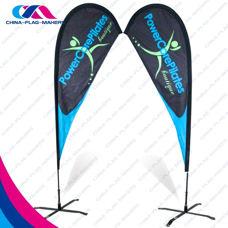 Customer trade show feather promotion event advertising china manufacture beach flag