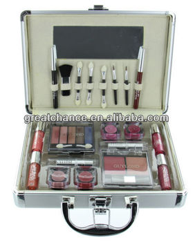 ETA Cosmetics Carry All Train Case with Makeup and Reusable Aluminum Case, Guylo