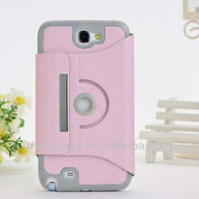 Leather Phone Case For Samsung n7100 Note2 Case 360 Degree Rotate