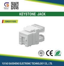 180 Degree Toolless Cat6 RJ45 Keystone Jack With Dust Cover Ethernet Module Network Coupler
