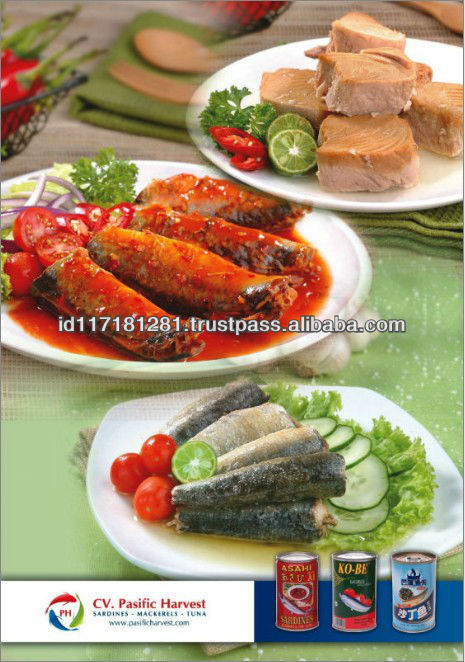 High Quality Indonesia Canned Sardine, Tuna, Mackerel Fish in Oil