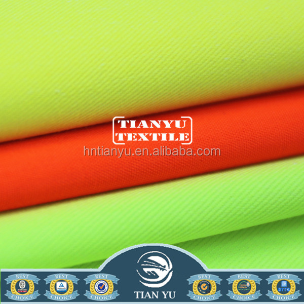 Hi-vis workwear fabric with EN ISO 20471 certification