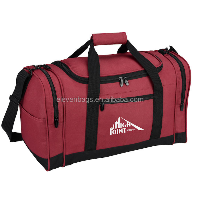 Tote Red Tote Sportbag Waterproof Rolling Retro Duffle Bag