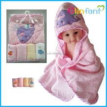 hot selling baby hooded towel baby wash cloth five pieces of suits wholesale