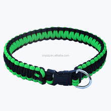 Top Quality Paracord Dog Accessories pet Buckle pet Collar for Dogs Cats Pet