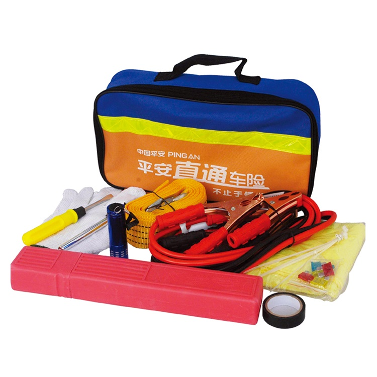 Auto First Aid Kit Tool Bag Contains Jumper Cables, tools