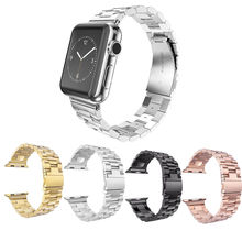 Stylish Integrated stainless steel watch bands replacement for apple watch 38mm/42mm