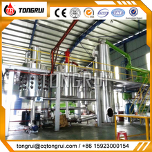 Best price used motor oil to SN300 base oil recycling vacuum distillation plant