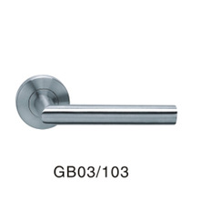 Stainless steel furniture hardware handles door lever handle privacy lock with handle