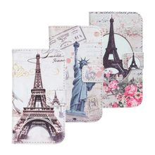 Brand NEW for samsung galaxy s3 i8190 Eiffel tower leather stand case, For Samsung S3 mini leather wallet case cover