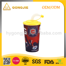 Eco-Friendly, Food Grade, 620ml, Large, Popular Mug , Plastic Cup With Lid And Straw