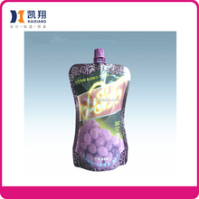 Popularity spout pouches fruit juice bags packaging