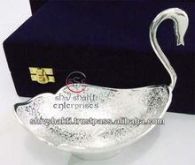 Duck Shape Bowl, Silver Plated Bowl