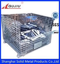 Steel Mesh Crate/Industrial Stackable Storage Wire Mesh Container/Steel Cages