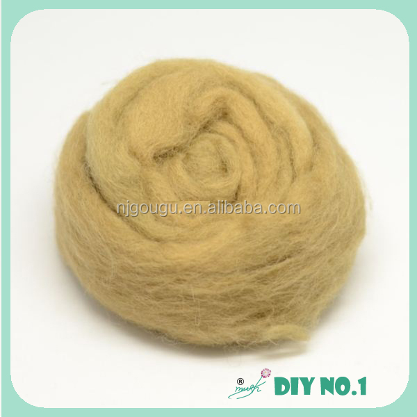 Washed lamb wool