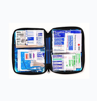 OP FDA CE ISO approved 131pieces blue nylon fabric emergency essentials waterproof first aid kit