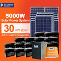 Bustsun5kw solar power system with battery and brackets solar generator