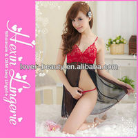 2013 Newest Wholesale Open Front Black&Red Hot Sexy Girl Underwear