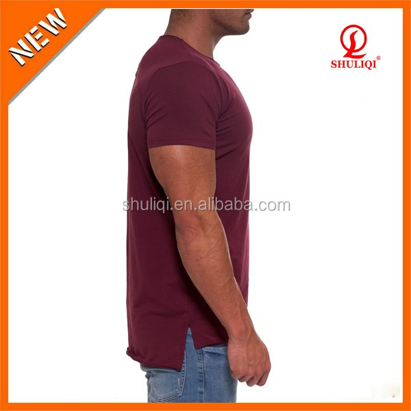 Trade Assurance back printing t shirts wholesale bulk fishtail hem T-shirts