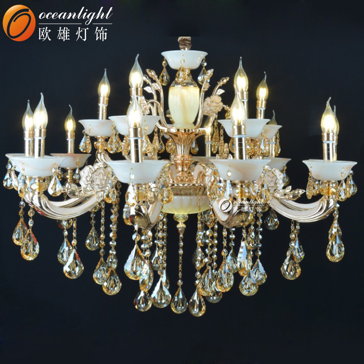 Crystal Chandelier replacement parts modern crystal chandeliers pendant light lamp lustre crystal chandelier modern OMC019-10+4