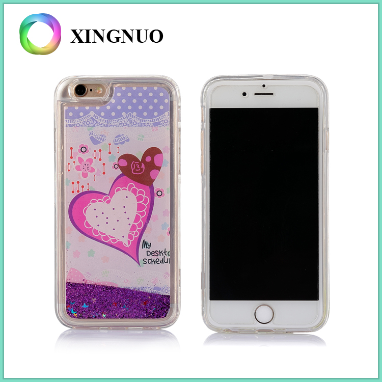 TPU Material Lovely Custom Design Liquid Phone Case for iPhone 6 6S 6 Plus 6S Plus