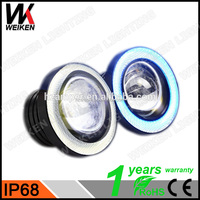 WEIKEN Led Fog Lamp Car Auto Fog Angel eyes light with Lens
