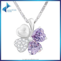 2016 jewelry supplier leaf clover shape cheap necklace