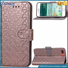 China manufacturer supply elegant business style mobile phone wallet case for iphone 7