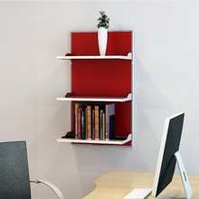 decoration models wooden bookcases wall shelf