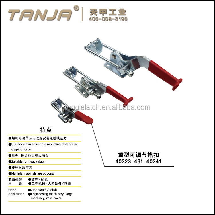 TANJA stainless steel adjustable toggle latch 431 / horizontal toggle clamp