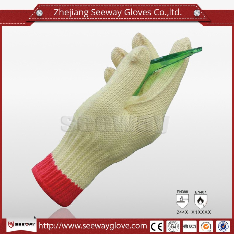 Seeway Aramid Finger Protection Cutting and Heat Resist Work Gloves