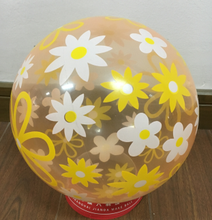 Transparent Flower Print PVC Toy Beach Ball