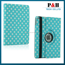 High quality PU leather stand case 360 rotating case for iPad