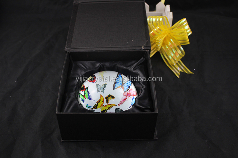 optical crystal paperweight,K9 crystal glass paper weight with color imprinting customized images