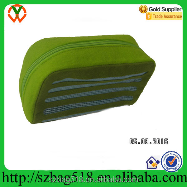 ISO9001 certificate factory promotional cheap OEM travel pvc funky felt cosmetic bag