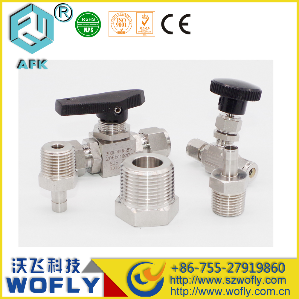 high pressure 3000psi ss316 needle valve