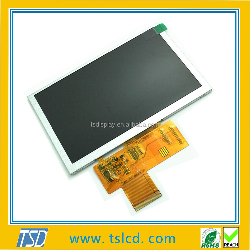 TSD New 5.0 inch 800X480 Resolution TFT LCD Module Display 2x6 parallel LED lights ZIF FPC