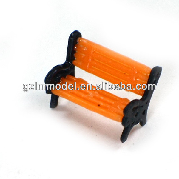 plastic scale bench chair,scale park chair for train layout model Y150-02 1/150
