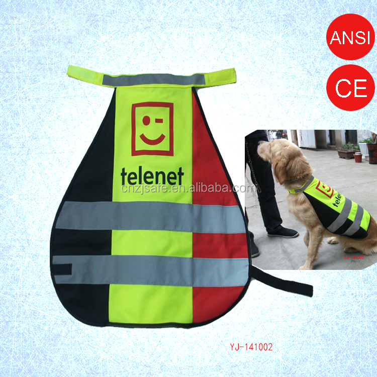 Smiling Face Printing Reflective Safety Dog Vest