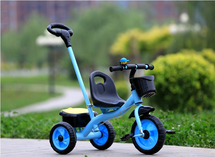 Push Handle/Adjustable Seat/Enviromental Paint Process Tricycle For Children