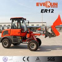 New Construction 1.2ton Wheel Loader ER12 with EUROiii Engine for Sale
