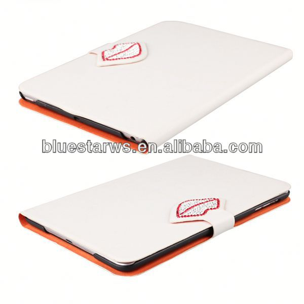 In stock with cheap price for ipad mini 2 pu leather case cell phone accessory