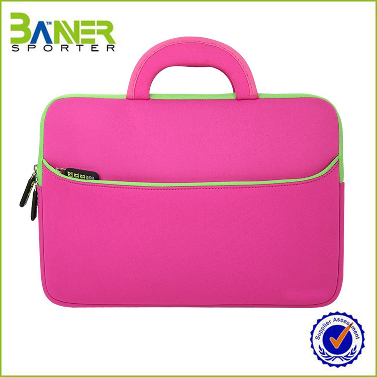 Custom Neoprene Fashionable Ladies Laptop Trolley Bag