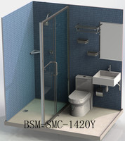 Portable prefabricated toilet and shower room