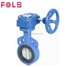 handwheel rubber lining wafers end type butterfly valves