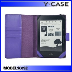 PU leather purple case for amazon kindle voyage